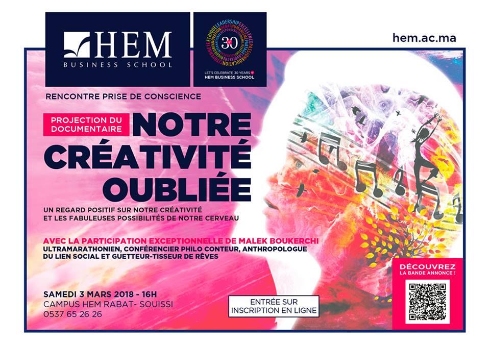 Notre créativité oubliée - Projection HEM